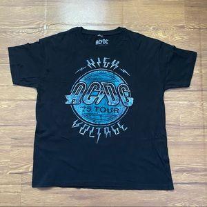 AC/DC High Voltage 75 Tour Men's T-Shirt Black L